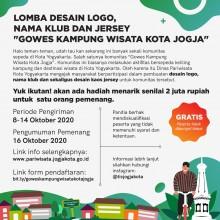 Pengumuman lomba desain logo, jersey, dan nama klub sepeda gowes kampung wisata Kota Jogja