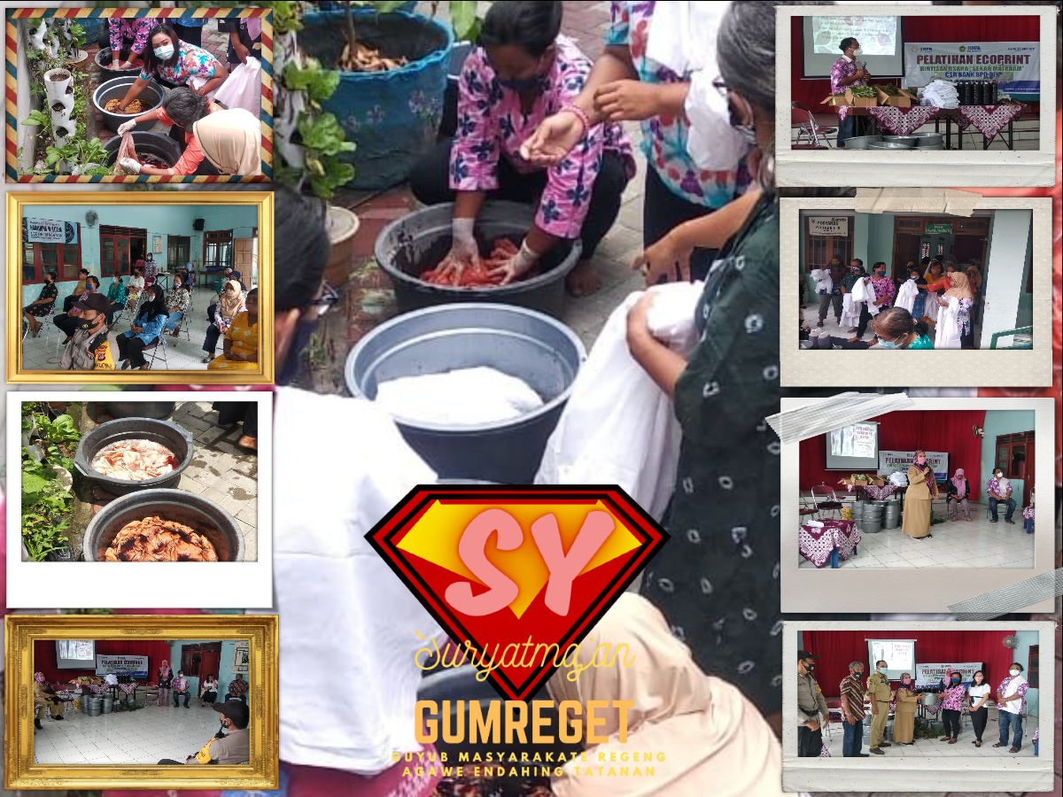 Pelatihan Ecoprint di Kampung Ledok Macanan bantuan CSR dari Bank BPD DIY
