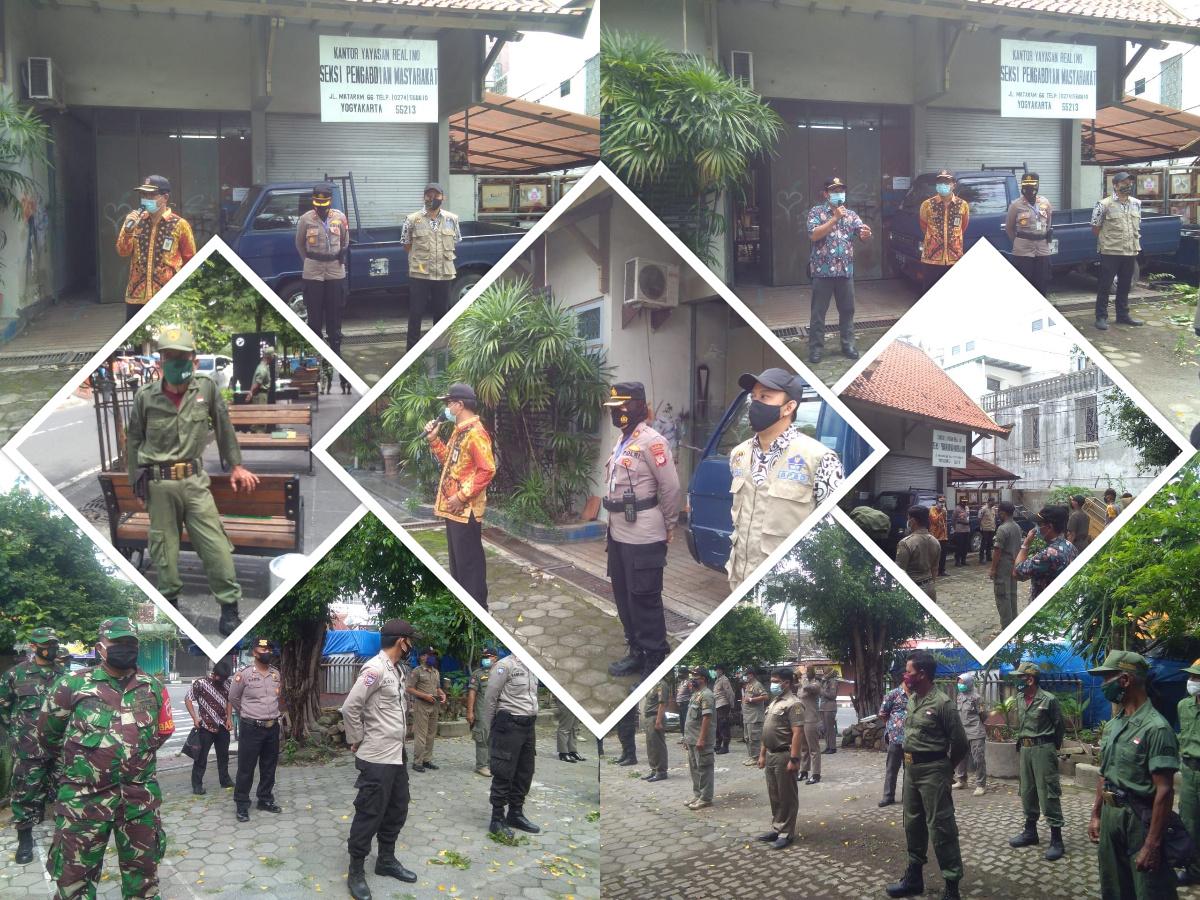 Penegakan Perda tentang penerapan Protokol Kesehatan jelang tahun baru di Wilayah Kelurahan Suryatmajan