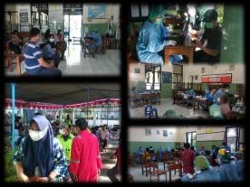 Vaksinasi Covid-19 ke pengurus RT dan RW Kelurahan Suryatmajan