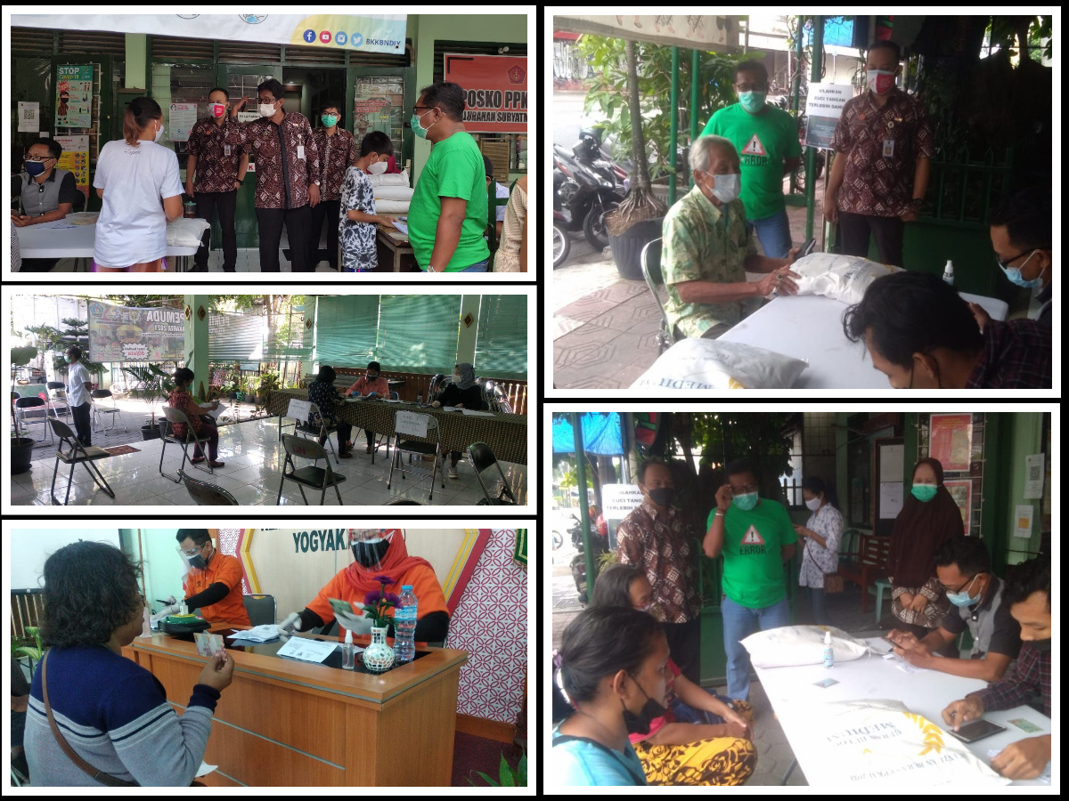 Penyaluran Bantuan Sosial Tunai (BST) dan Beras bagi Program Keluarga Harapan (PKH) di Kelurahan Suryatmajan